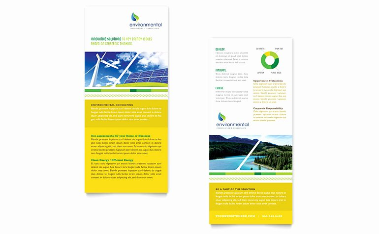 Rack Card Template Word Best Of Environmental Conservation Rack Card Template Word