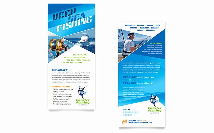 Rack Card Template Word Best Of Fishing Charter & Guide Rack Card Template Word & Publisher