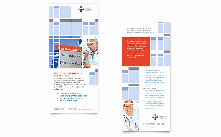 Rack Card Template Word Best Of Hospital Rack Card Template Word & Publisher