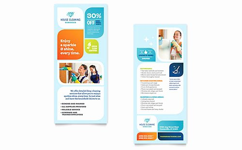 Rack Card Template Word Elegant House Cleaning Service Rack Card Templates Word