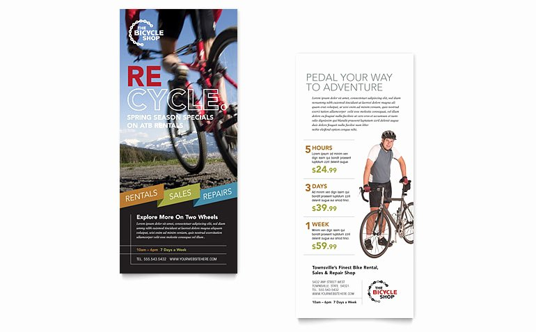 Rack Card Template Word Fresh Bike Rentals & Mountain Biking Rack Card Template Word