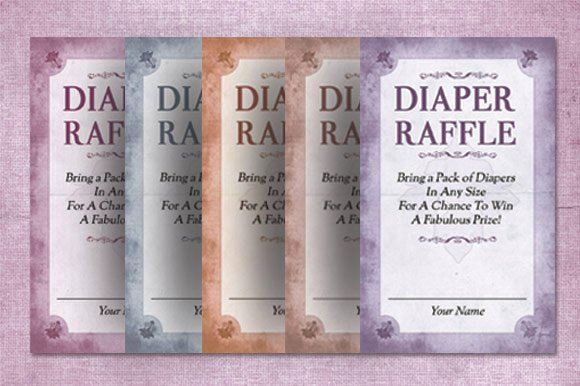 Raffle Flyer Template Free Awesome Diaper Raffle Card Template Invitation Templates On