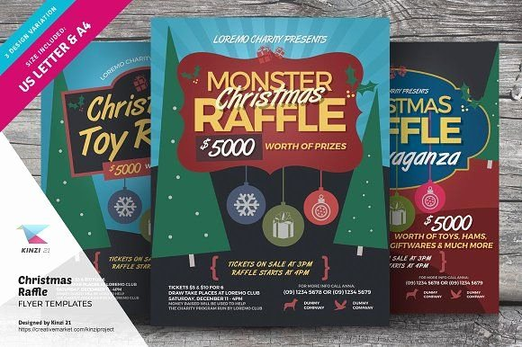 Raffle Flyer Template Free Best Of Christmas Raffle Flyer Templates by Kinzi21 On
