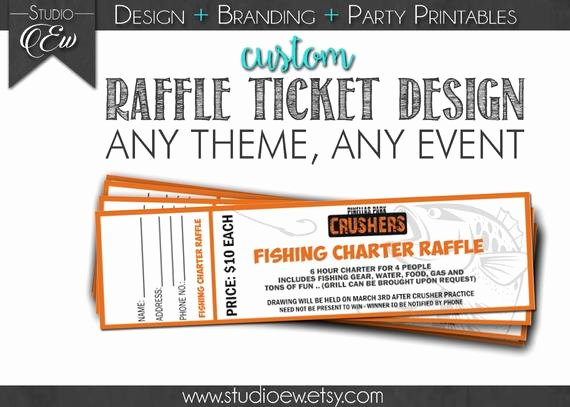 Raffle Flyer Template Free Inspirational Custom Raffle Ticket Design Any event Any theme Fundraiser