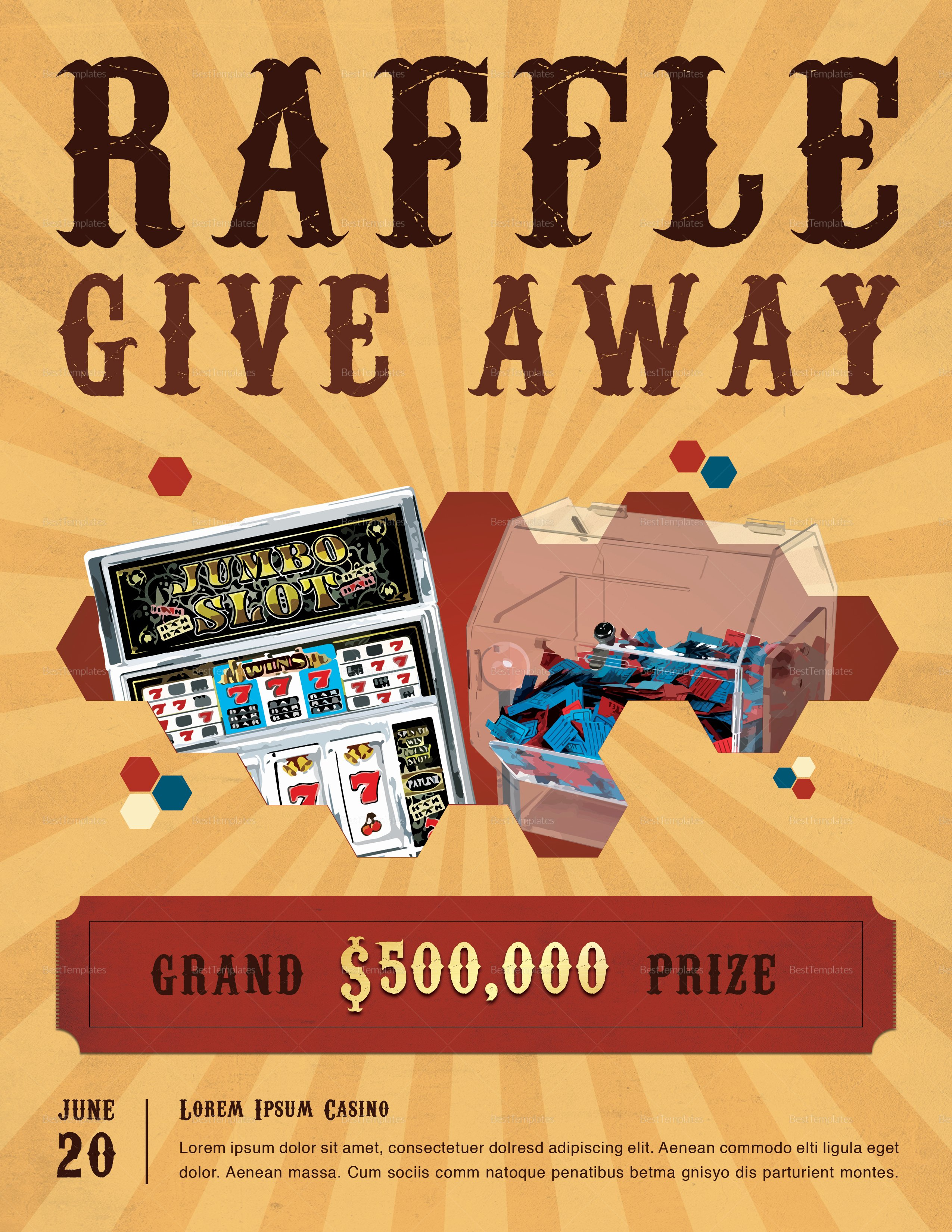 Raffle Flyer Template Free Lovely Casino Raffle Flyer Design Template In Psd Word