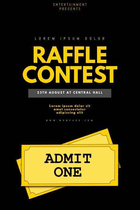Raffle Flyer Template Free Lovely Copy Of Raffle Contest Flyer Template