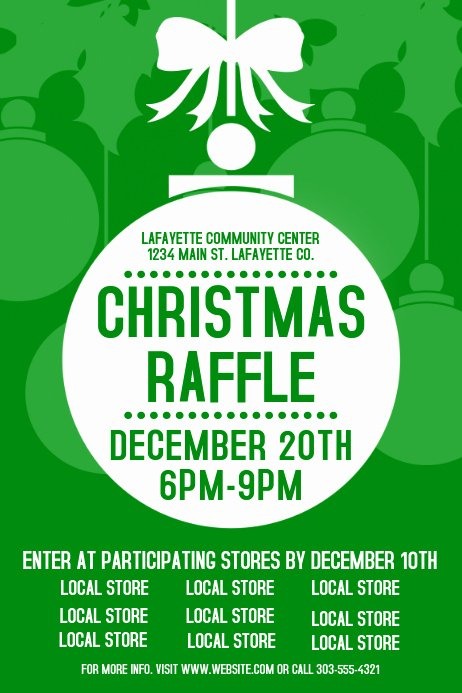 Raffle Flyer Template Free New Christmas Raffle Template