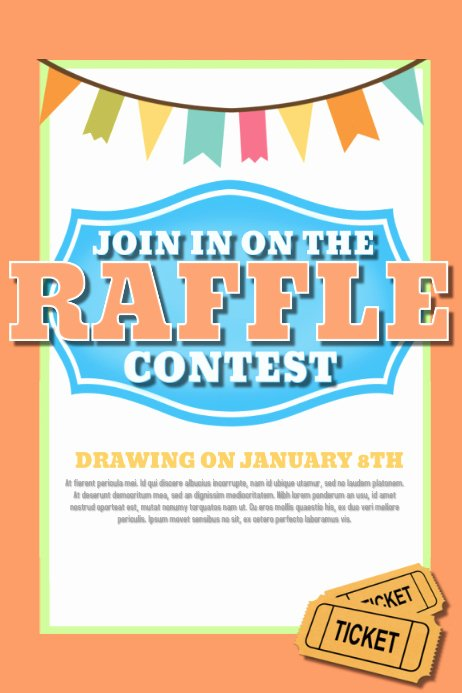 Raffle Flyer Template Free Unique Design A Winning Raffle Flyer