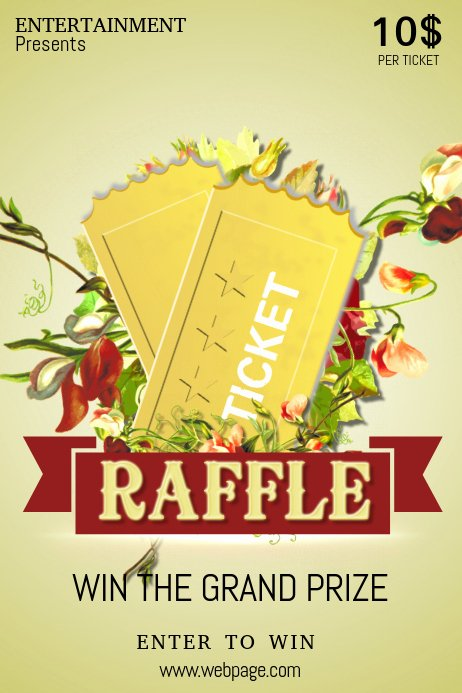 Raffle Flyer Template Word Beautiful Raffle Ticket event Poster Template