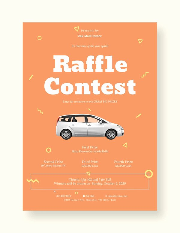Raffle Flyer Template Word Luxury 17 Awesome Raffle Flyer Designs Psd Ai Indesign