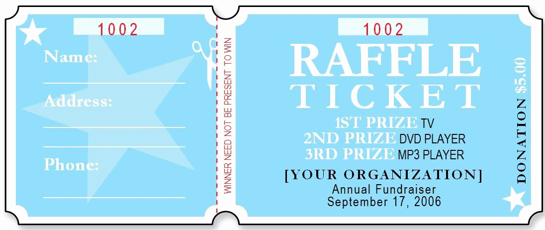 Raffle Flyer Template Word Luxury Sample Raffle Ticket Templates