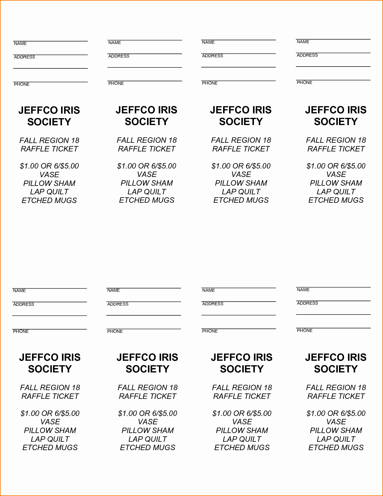 Raffle Ticket Template Free Fresh Free Printable Raffle Tickets with Stubs Free Download