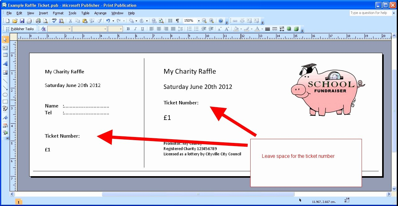 Raffle Ticket Template Free Inspirational Free Printable Raffle Tickets Template