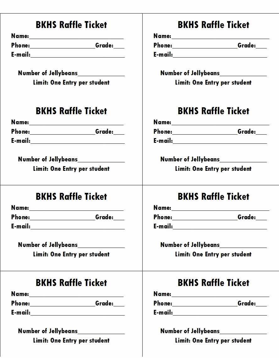 Raffle Ticket Template Free Lovely 50 Free Raffle & Movie Ticket Templates Templatehub