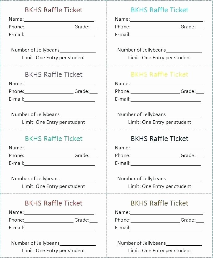 Raffle Tickets Template Word Beautiful Ticket Maker Design software to Enlarge Raffle