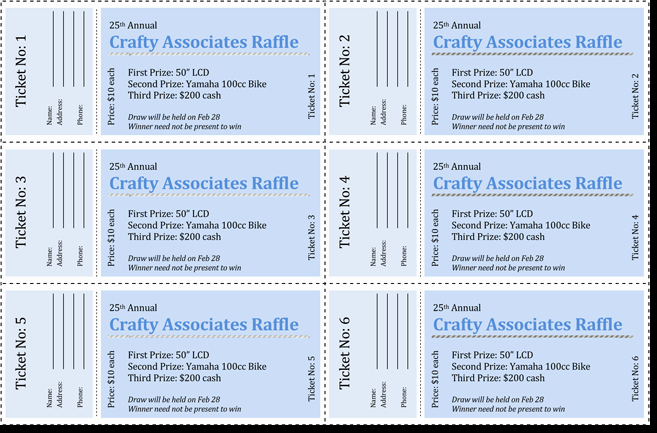 Raffle Tickets Template Word Best Of 20 Free Raffle Ticket Templates with Automate Ticket