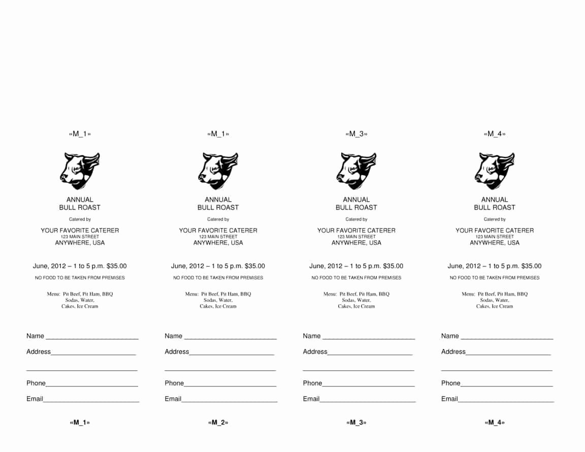 Raffle Tickets Template Word Best Of 4 Microsoft Word Ticket Templates Word Excel Pdf formats