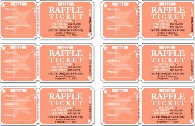 Raffle Tickets Template Word Fresh Raffle Ticket Templates Word Templates Docs