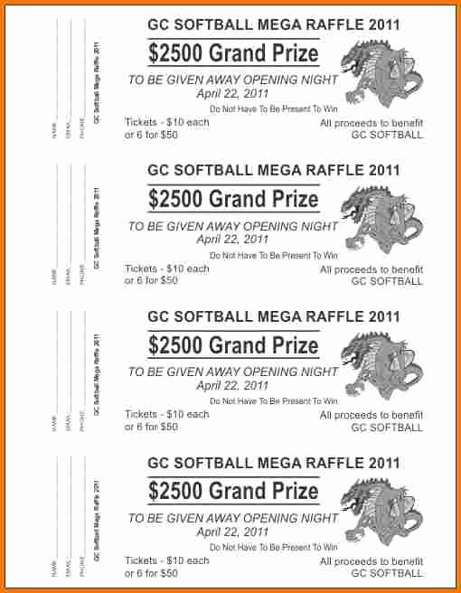 Raffle Tickets Template Word Inspirational Raffle Tickets Template Word