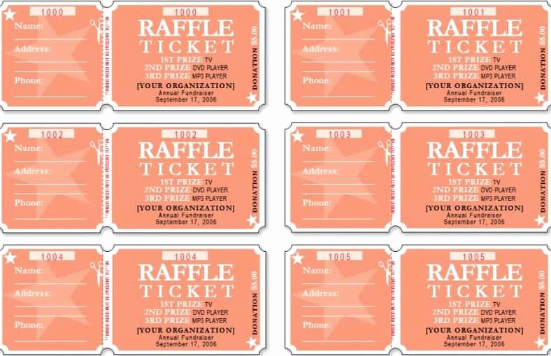 Raffle Tickets Template Word New Raffle Ticket Templates Word Templates Docs