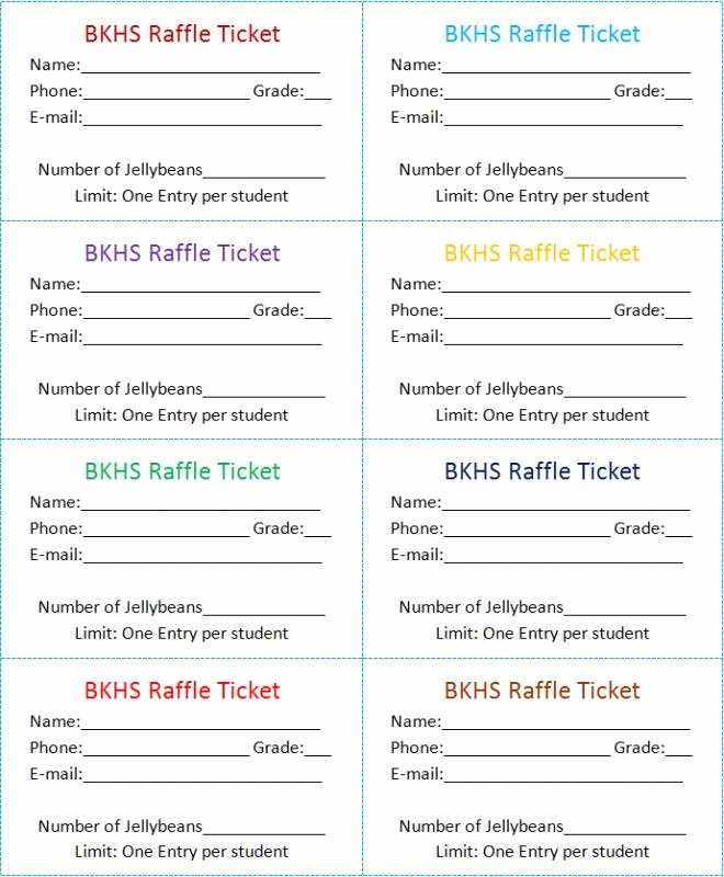 Raffle Tickets Template Word New Raffle Tickets Template