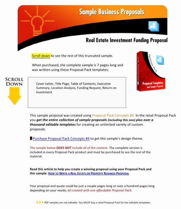 Real Estate Investment Proposal Template Best Of Download Real Estate Investment Funding Proposal for Free