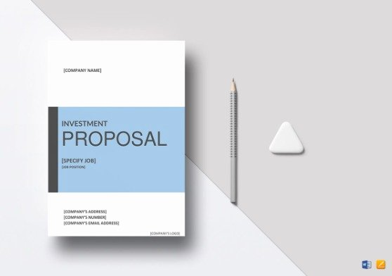 Real Estate Investment Proposal Template Best Of How to Write Investment Proposal Template with Examples