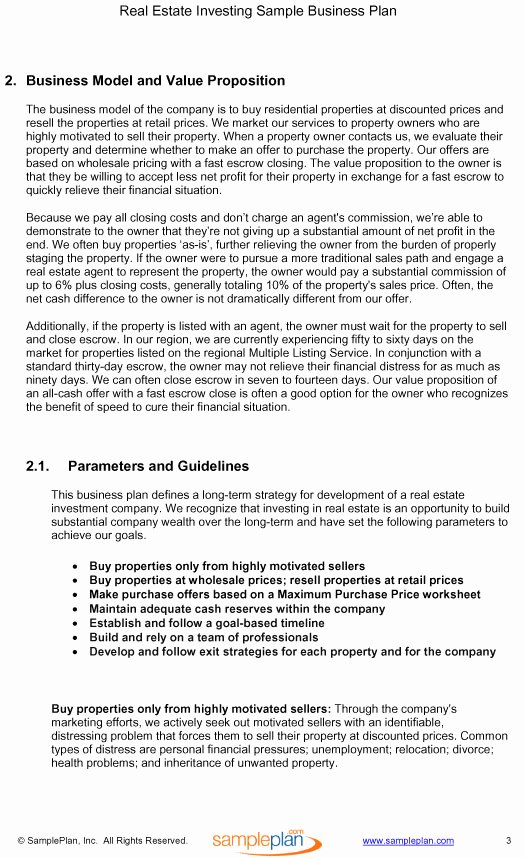 Real Estate Investment Proposal Template Best Of Real Estate Business Proposal Template