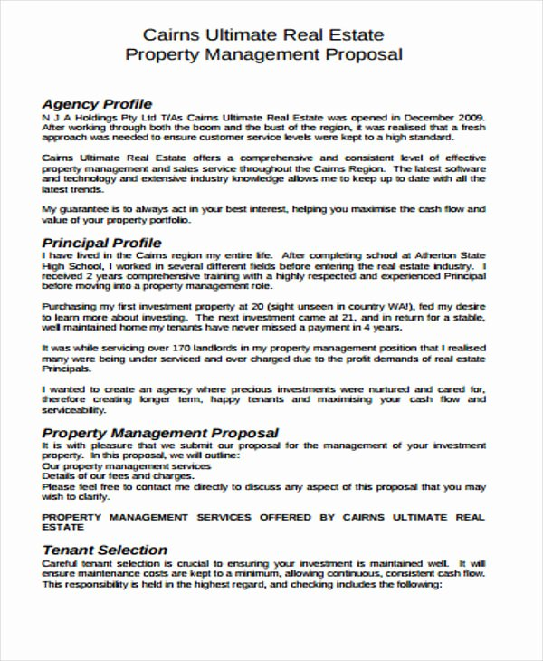 Real Estate Investment Proposal Template Elegant Real Estate Business Proposal Templates 11 Free Word