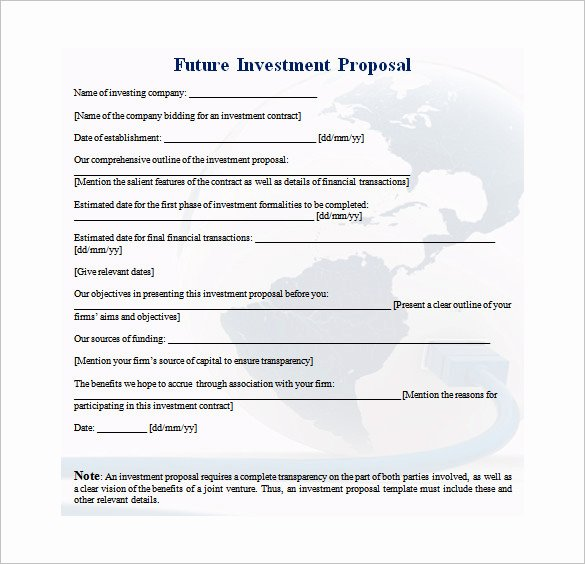 Real Estate Investment Proposal Template Lovely 30 Investment Proposal Templates Word Pdf Google Docs