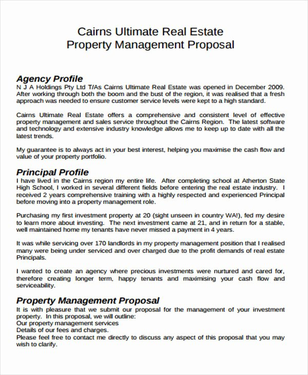 Real Estate Investment Proposal Template New 13 Real Estate Business Proposal Templates Free Word