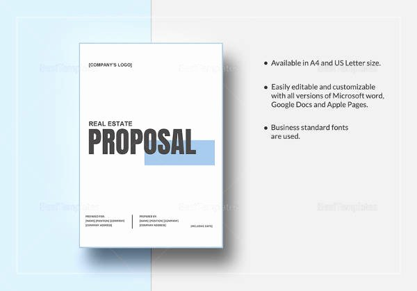 Real Estate Investment Proposal Template Unique Sample Real Estate Proposal Template 9 Free Documents
