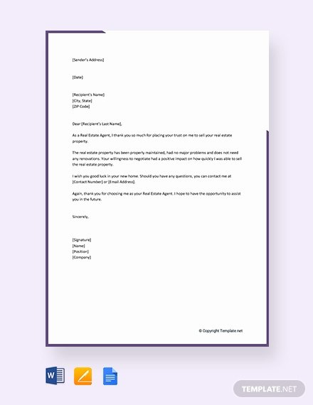 Real Estate Letter Templates Awesome Free Letter Template Of Intent for Real Estate Download