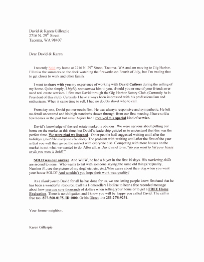 Real Estate Letter Templates Awesome Real Estate Introduction Letter to Friends Template