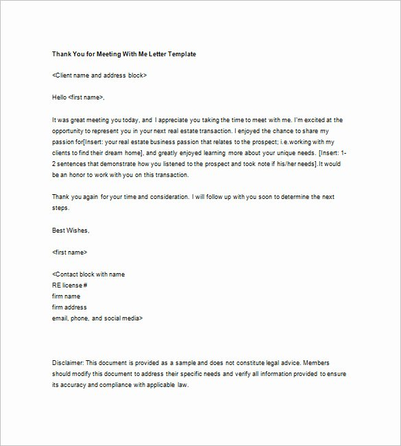 Real Estate Letter Templates Luxury Real Estate Thank You Letter – 6 Free Sample Example