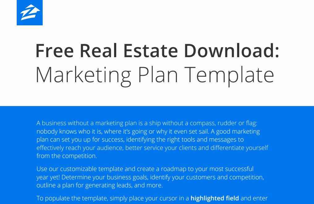 Real Estate Marketing Plan Template Unique 2017 Best Real Estate Business and Marketing Plans