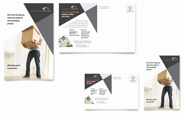 Contemporary Modern Real Estate Postcard Template Design RE