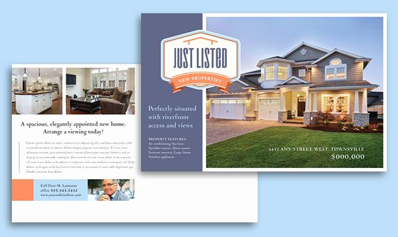 Real Estate Postcard Templates Awesome Real Estate Marketing Postcards – Quick & Easy Templates
