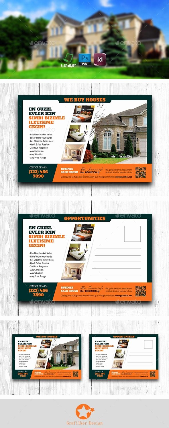 Real Estate Postcard Templates Elegant Pin by Best Graphic Design On Postcard Templates