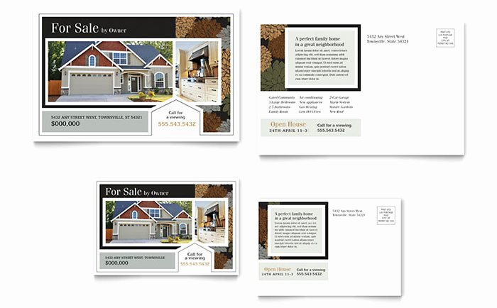 Real Estate Postcard Templates Elegant Real Estate Marketing Postcards – Quick & Easy Templates