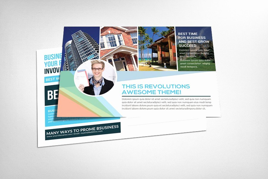 Real Estate Postcard Templates Elegant Real Estate Postcard Template Card Templates Creative