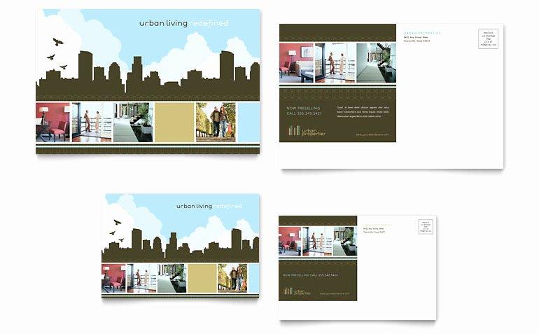 Real Estate Postcard Templates Elegant Urban Real Estate Postcard Template Word & Publisher