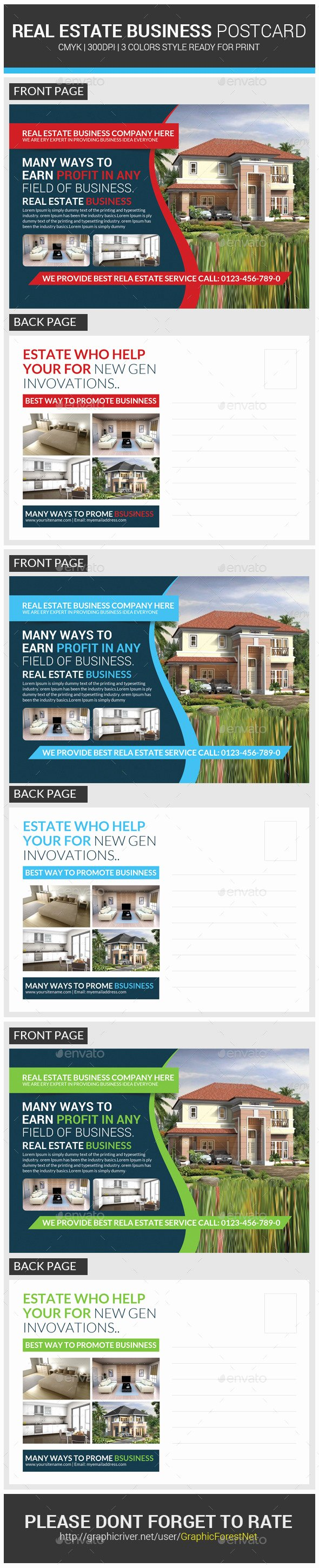 Real Estate Postcard Templates Fresh Real Estate Postcard Template by Graphicforestnet