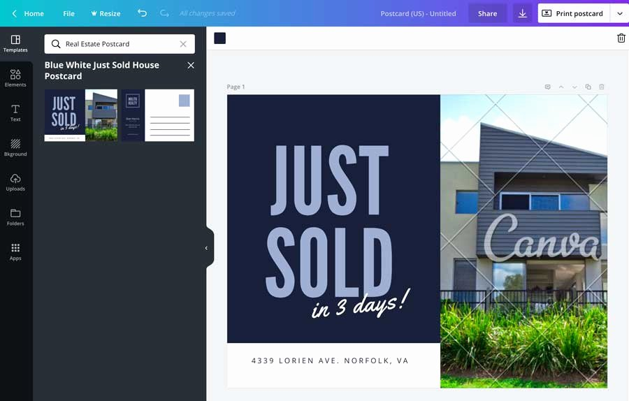 Real Estate Postcard Templates Inspirational How to Make Real Estate Postcards In Canva for Free