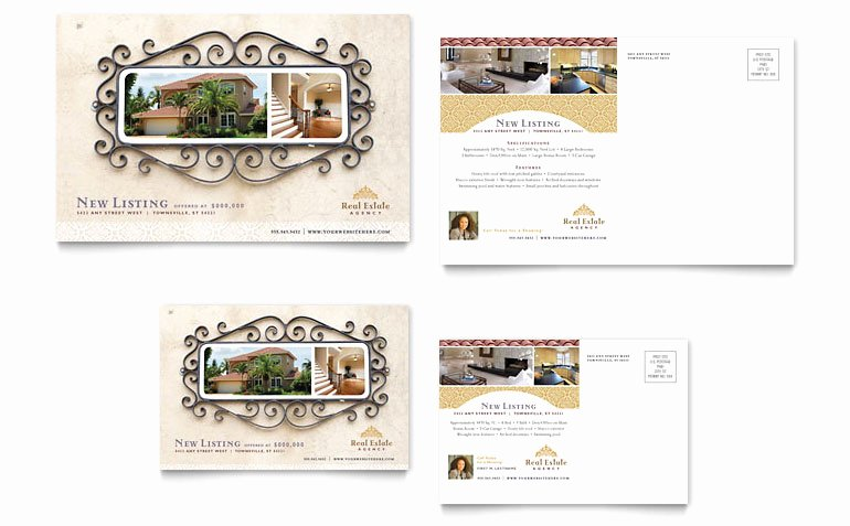Real Estate Postcard Templates Lovely Luxury Real Estate Postcard Template Word & Publisher