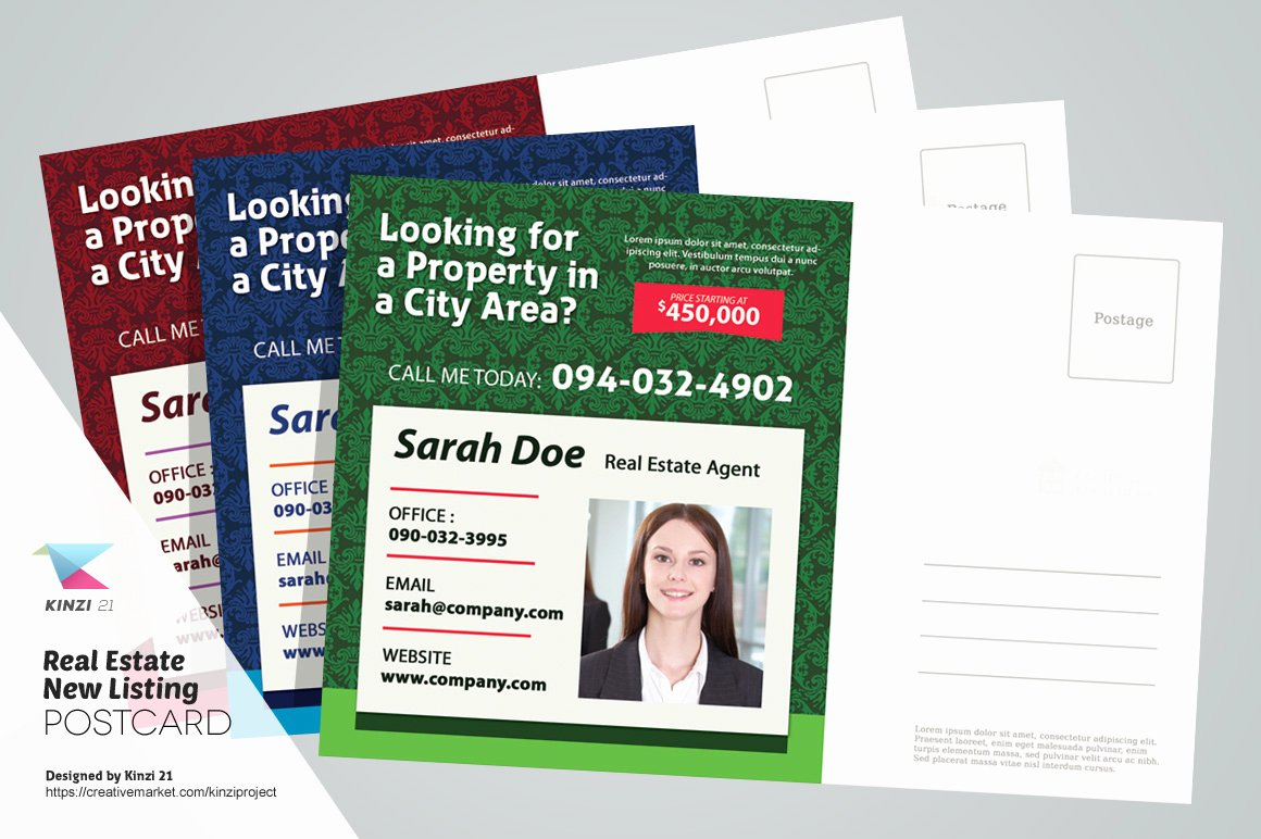 Real Estate Postcard Templates Lovely Real Estate New Listing Postcard Card Templates On