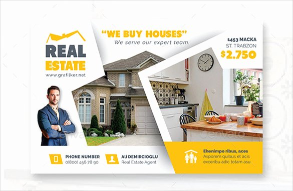 Real Estate Postcard Templates Lovely Real Estate Postcard Template – 22 Free Psd Vector Eps
