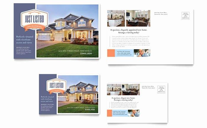 Real Estate Postcard Templates Luxury New Property Postcard Template Design