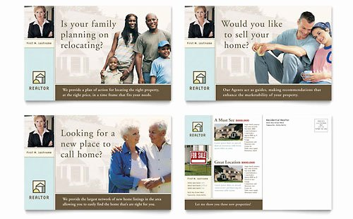 Real Estate Postcards Templates Beautiful House for Sale Real Estate Postcard Template Design