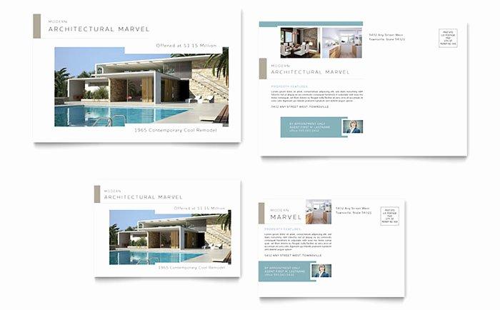 Real Estate Postcards Templates Beautiful Modern Real Estate Postcard Template Design
